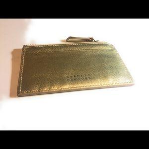 BARNEYS NEW YORK Gold Credit Card Holder Wallet